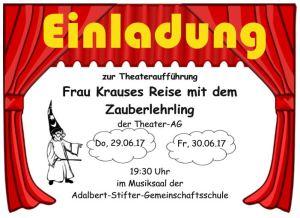 1. ASG Theaterabend @ Zeichen- und Musiksaal der ASG | Ulm | Baden-Württemberg | Deutschland